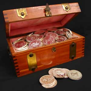 Box full of coins