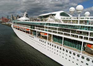 Cruise ship docking