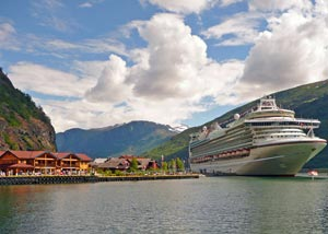 Cruise ship in harbor