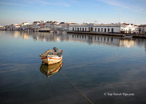 Small fishing boat in Portugal fishing village