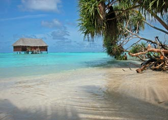 Luxury beach accommodation in the Maldives