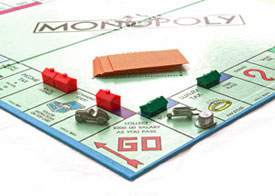 Monopoly travel board game