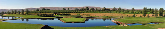 Panoramic view over golf course
