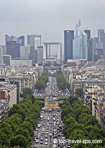 View towards Grande Arche Paris