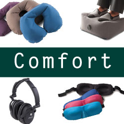 In-flight comfort products