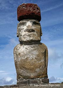 Single statue on Easter Islands