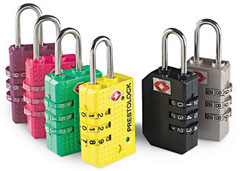 Six TSA luggage locks
