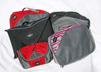 Five travel packing cubes
