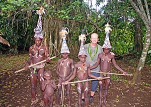 Traditional tribe costumes in Vanuatu