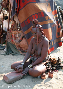 Himba woman in Namibia